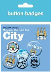 Manchester City Godło - zestaw 6 przypinek