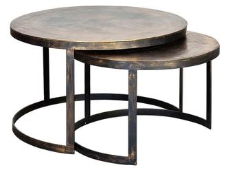Metalowy okrągły stolik herrum  zestaw 2 szt.