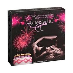 Sexshop - smakowity zestaw olejków i pyłków do ciała voulez-vous... - gift box birthday - online