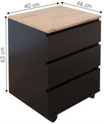Kontenerek ewald 46 cm industrialny czarny