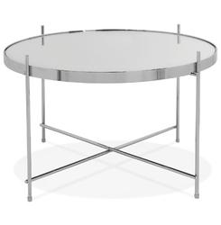 Okrągły stolik kawowy espejo medium  srebrny