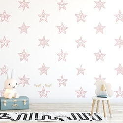 Tapeta dziecięca - starry pink , rodzaj - tapeta flizelinowa