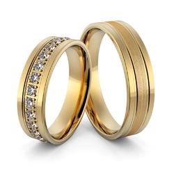 Obrączki ślubne z brylantami - au-997