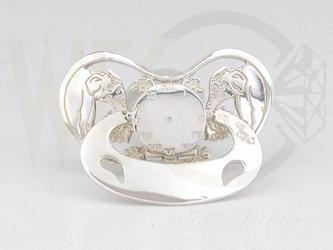 Smoczek srebrny słonie co-ssmo