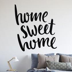 Home sweet home - naklejka na ścianę , kolor naklejki - czarna, wymiary naklejki - 70cm x 70cm