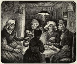 Potato eaters, vincent van gogh - plakat wymiar do wyboru: 91,5x61 cm