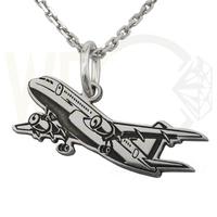 Wisiorek z łańcuszkiem ze srebra samolot- 1