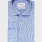 Elegancka niebieska koszula ze splotem oxford michaelis z kołnierzem włoskim 44