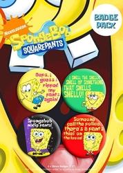 Spongebob - zestaw 4 przypinek
