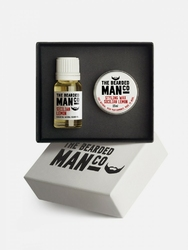 Bearded man co - zestaw: olejek do brody i wosk do wąsów sycylijska cytryna - sicilian lemon