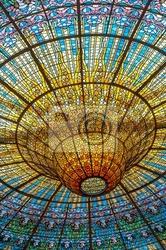 Fototapeta sufit misic palace, barcelona, hiszpania