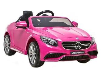 Mercedes-benz s63 różówy samochód dla dzieci + pilot