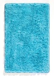 Dywaniki łazienkowe ze sztucznym futerkiem i pianką memory bonprix niebieskozielony