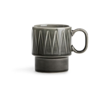 Filiżanka ceramiczna z uchem szara coffee sagaform