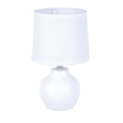 Lampa stołowa dekoracyjna na ceramicznej podstawie altom design biała