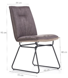 Krzesło kuchenne buffy ciemnoszaryjasnoszary
