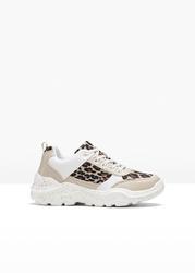 Sneakersy bonprix brązowy - leo