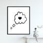 Lovely dream - plakat dla dzieci , wymiary - 30cm x 40cm, kolor ramki - czarny