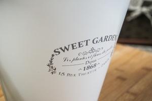Metalowa osłonka na doniczkę sweet garden okrągła 23 cm