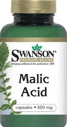 Swanson malic acid - kwas jabłkowy 600mg x 100 kapsułek wegetariańskich