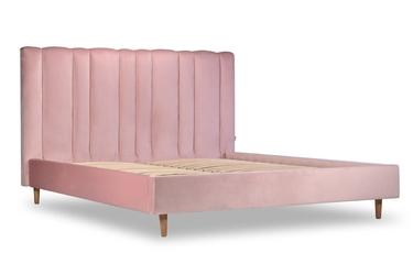 Łóżko dahlia  160x200 deluxe - welur łatwozmywalny dune