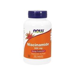 Now foods niacinamide 500mg 100 kapsułek witamina b3 mocna niacyna wysyłka 24h