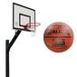 Zestaw kosz do koszykówki sure shot euro court 661 z certyfikatem wysięgnik + piłka do koszykówki spalding grip control