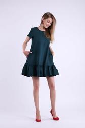 Zielona mini sukienka w romantycznym stylu