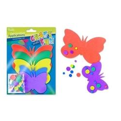 Zestaw piankowych motylków - 5 szt.