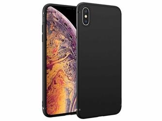 Etui silikonowe Alogy slim case do Apple iPhone XS czarne + Szkło