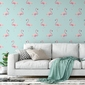 Tapeta na ścianę - marine flamingo , rodzaj - próbka tapety 50x50cm