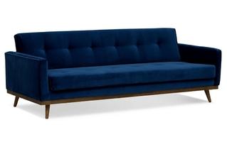 Sofa klematisar welurowa 3-osobowa deluxe - welur łatwozmywalny balsam