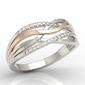 Pierścionek z białego i różowego złota z diamentami lp-72bp