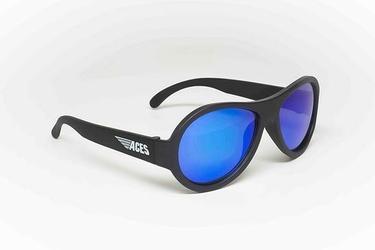 Okulary przeciwsłoneczne babiators aviator 6+: black ops niebieskie szkła