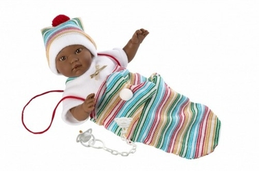 Llorens lalka płacząca cuqui mulatka 30008 30 cm