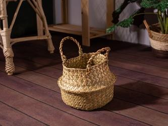 Koszyk  osłona na doniczkę z trawy morskiej altom design boho 18 cm