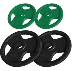 30 kg zestaw obciążeń gumowanych z uchwytami na sztangę 30 mm