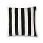 Hkliving poduszka velvet w paski biało-czarny 50x50 tku2079