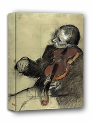 Violinist, study for the dance lesson, edgar degas - obraz na płótnie