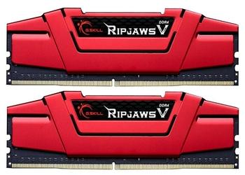 G.SKILL DDR4 16GB 2x8GB RipjawsV 3000MHz CL15-15-15 XMP2 Red