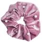Gumka do włosów welur scrunchie różowa nude perły - różowa nude