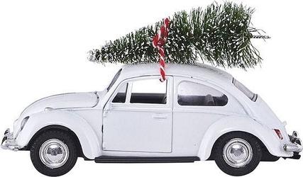 Dekoracja świąteczna xmas car biała