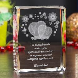 Pamiątka ślubu » serca 3d wśród kwiatów « • personalizacja gratis