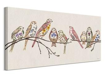 Wildflower sparrows - obraz na płótnie