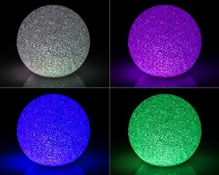 Lampka kula ledowa świecąca multikolor led 15 cm lampka nocna