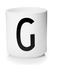 Kubek porcelanowy AJ litera G