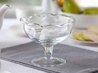 Cukiernica szklana na nóżce