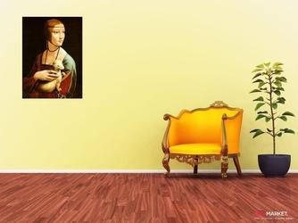 dama z gronostajem - leonardo da vinci ; obraz - reprodukcja