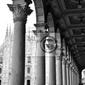 Obraz gotycka katedra w mediolanie, włochy