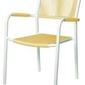 Miloo :: krzesło ogrodowe obiadowe shelly żółte szer. 57 cm